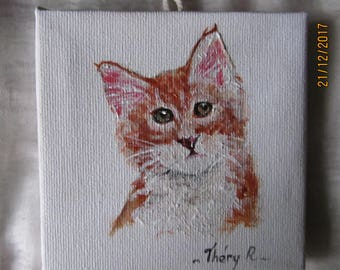Maine Coon, animal painting