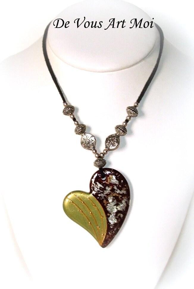 Femme Or Bohème Porcelaine turquoise Coeur collier en Collier drtQCsh