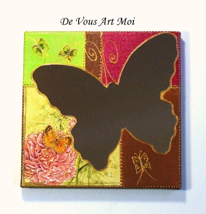 Miroir papillon tableau miroir d coratif sur ch ssis Petit miroir decoratif