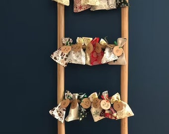Advent calendar fabric pouch to hang