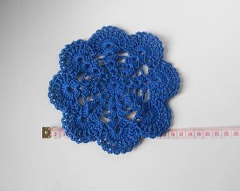 Royal Blue crochet doily