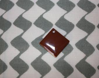 1 Pearl sequin chocolate charm