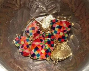 1 mosaic heart charm