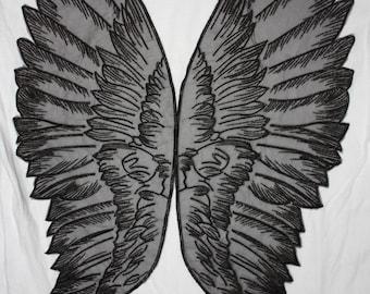 Pair of black wings