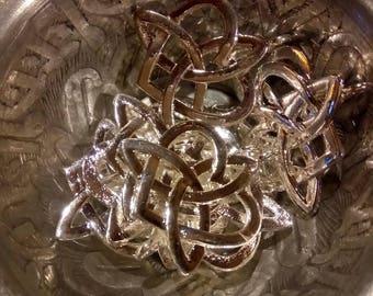 1 Celtic knot heart charm