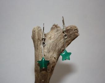 Green star, Green Star earrings