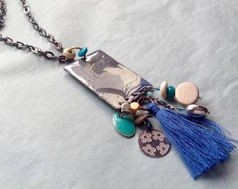Homemade pendants etsy long necklace geisha enameled pendant and homemade charms aloadofball Gallery