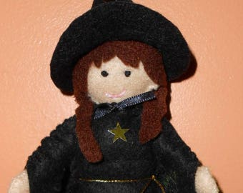 Felt witch doll / cat