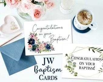 JW Baptism Printable Cards