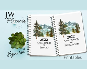 JW Printable Forest Planners - SPANISH