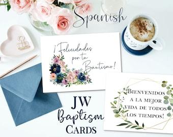 JW Baptism Printable Cards- SPANISH