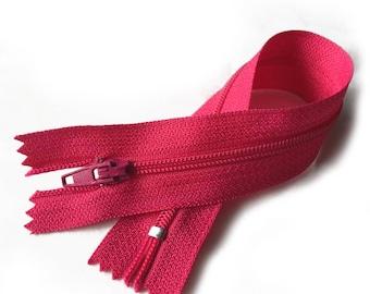 Zipper zip / FUSHIA pink / 23cm