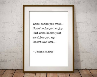 Book quote print   Etsy