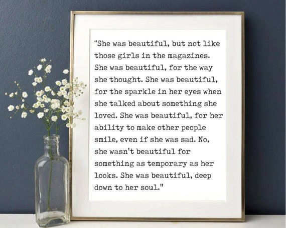 She Was Beautiful Quote Love Quote F Scott Fitzgerald Quote Etsy