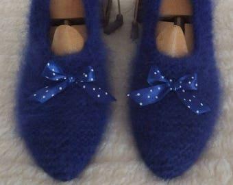 Gorgeous slippers 95% angora adult woman 37 / 38