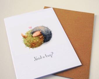 Hedgehog love - Greeting card