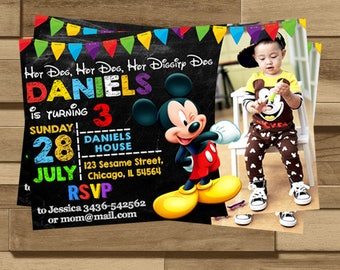 Mickey invitations Etsy