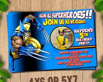 Wolverine Invitation, Wolverine Birthday, Wolverine Party Invitations, Logan, X-Men, Printable Invitation, Wolverine Printable,