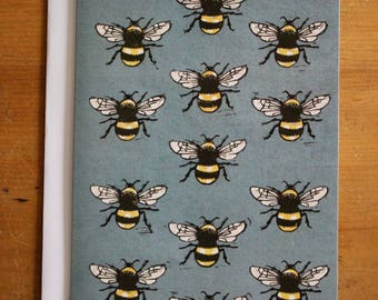 Bumble Bees, Greeting Card