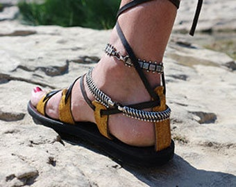 sandal Spartan rider # fish leather