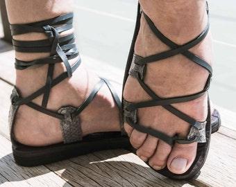 Amazon fish leather sandal