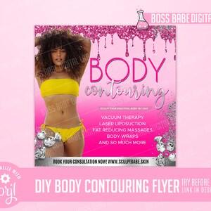 DIY Spa Flyer Sale Flyer DIY Sale Flyer Sale Flyer DIY Body Contouring Sale Flyer Editable Flyer Body Contouring Flyer
