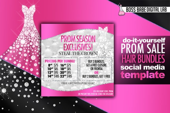 prom flyer template free