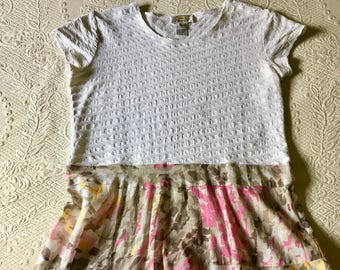 Upcycled Recycled Repurposed Tunic Dress Size SM/M
