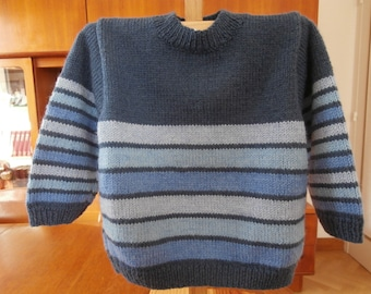 12- to 18-month striped blue sweater for boys