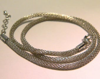 Snake chain necklace hollow inside - steel-grey - D36-2