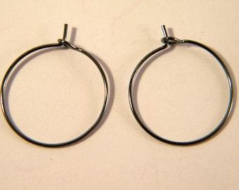 4 brackets rings / hoop black 20 mm AC