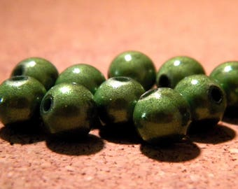 10 pearls magic - miracles-8 mm - 3D - Green - PE157 effect