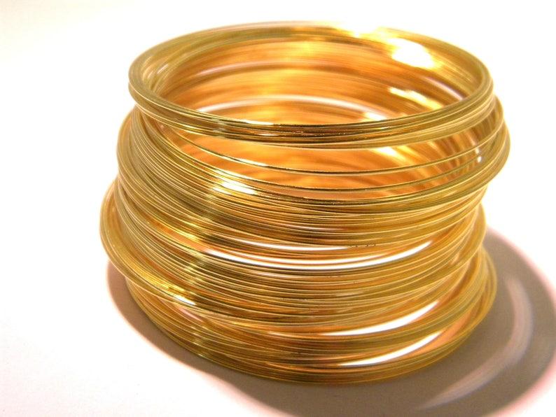 AF bright silver metal 6.5 cm-bracelet-shape memory 100 wire 0.6 mm