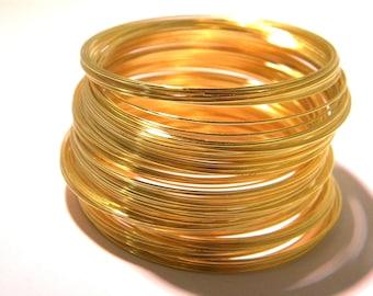 100 wire 0.6 mm - metal Gold 5.5 cm-bracelet-shape memory - AF