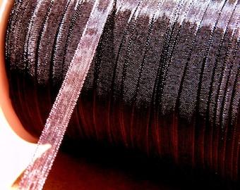 10 meters of 6 mm - deep black-OR11 organza Ribbon