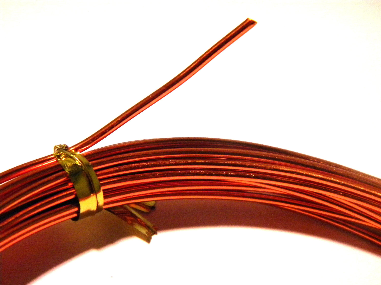 6 Meters Of Aluminum Wire In 15 Mm Copper Dark Metal Etsy To Wiring Ff 8