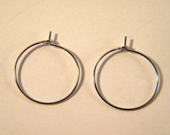 4 rings holders / platinum silver hoop 20 mm AB