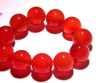 2 beads-carnelian gemstones - 12 mm orange gems stones gemstone PG214