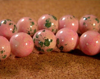 "10 pearls glass 12 mm-pink - PE176 ""reality"""