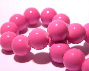 "20 glass beads 10 mm way""jade""-lilac purple PG235 """