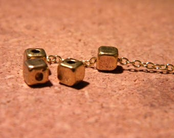 20 bead spacer spacer cube - gold metal - 4 mm - AC40