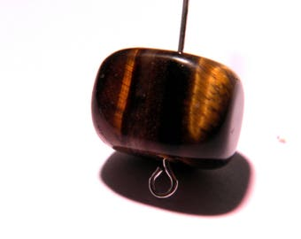 2 pavets Tiger eye 15 mm x 13 mm parrallepipede gems PG198 semi-precious stones