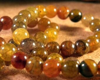 5 8 mm - AG106 Crackle agate bead