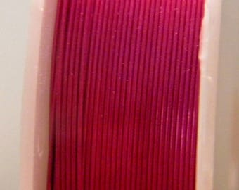 spool of 12 M Fil 0.4 mm - dark fuchsia - for DIY jewelry - F19