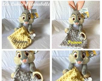 """Doudou Disney """"Panpan"""" Bambi's friend toy 1st age CUSTOMIZABLE with sound!"""
