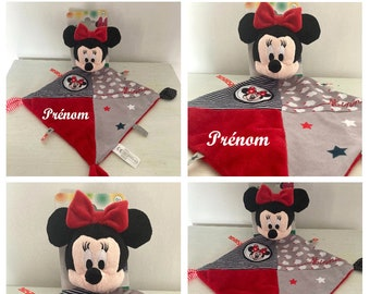 Doudou Minnie toy 1st age CUSTOMIZABLE with embroidery first name