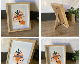 Poster + Frame Indian Fox theme. To pose or to hang!