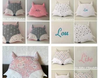 Wolf cushion or customizable Indian Fox.