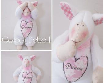 """Cuddly plush baby girl! CUSTOMIZABLE model """"Lamb Tilda"""""""