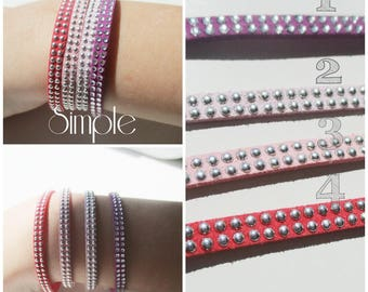 Bracelet suede Simple and Chic colors